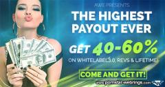 Adult Webmaster Cash - AWE presents the highest payouts EVER