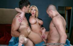 Summer Brielle - Busty Police Officer suck and fuck two hard cocks