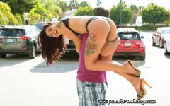 Brazilian Porn Star Gina Valentina enjoy a hot creampie