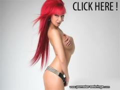 Pink haired hottie Tracy Haze strips off her black Lingerie