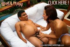 Brazilian Pornstar Sara Ribeiro Gets Some Midget Cock