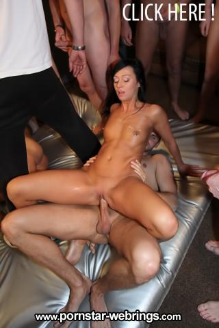 Mareen De Luxe & Gina Bang - Tight German babe gets passed around