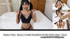 Thai Pornstar Pikka-Thai - Really hard wanked on my new fans - Solo