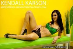 Kendall Karson in Green Lingerie Hottie
